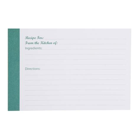 blank recipe cards for sale my family recipes blank recipe cards modern teal