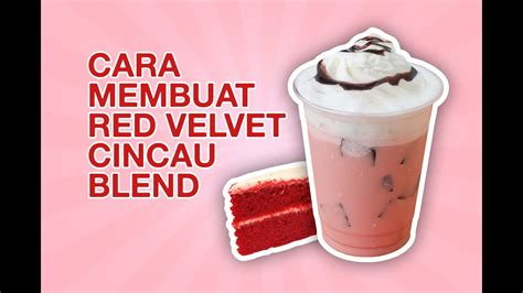 membuat red velvet cincau blend  topping