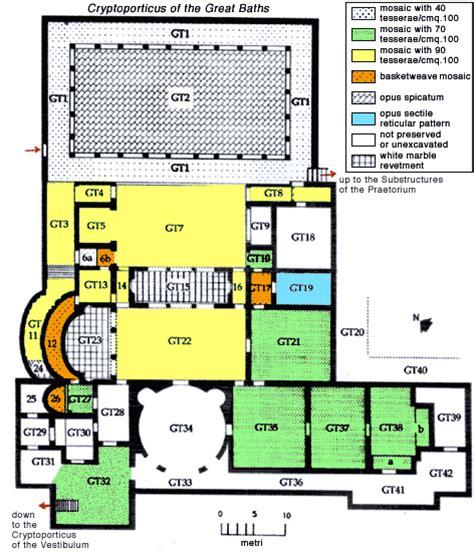 roman bath house floor plan the baths