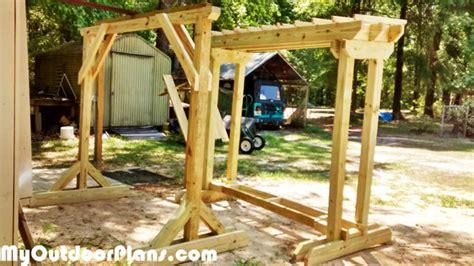 diy wood swing stand myoutdoorplans  woodworking