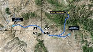 animas river map plume from mine spill can t be found in utah river fox13now