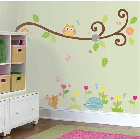 ebay nursery wall stickers scroll branch 65 big wall stickers tree flowers animal room decor decals nursery ebay