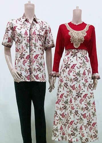 baju gamis batik cantik kombinasi kain kaos dan kain katun