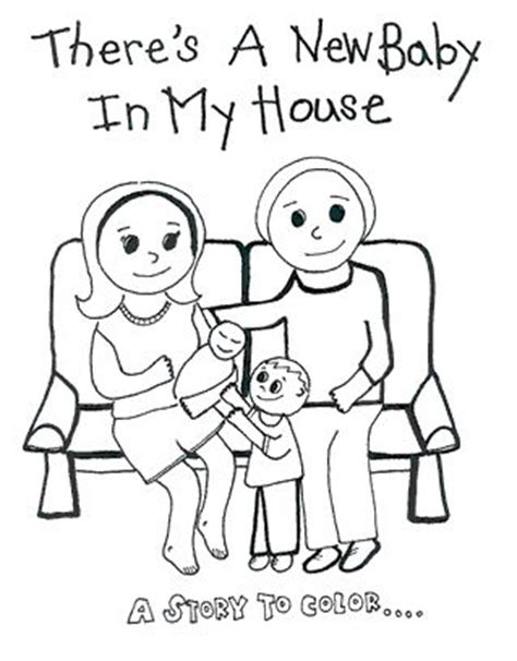 coloring pages baby sister coloring books home births and coloring on pinterest