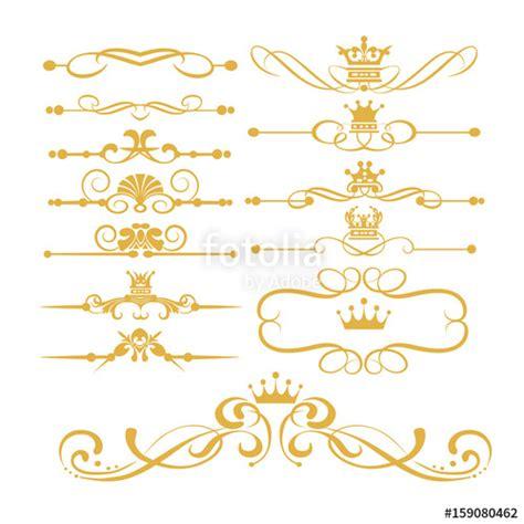 gold decorative elements vector quot gold element set victorian scrolls and crown