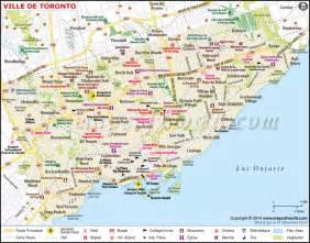 usa canada map toronto toronto carte carte de ville de toronto canada