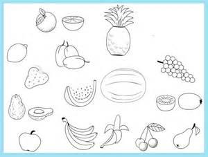 gambar mewarnai buah lengkap gambar mewarnai