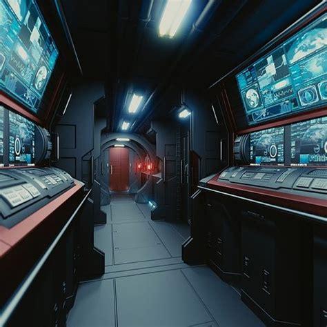 model spaceship interior  hd cgtrader