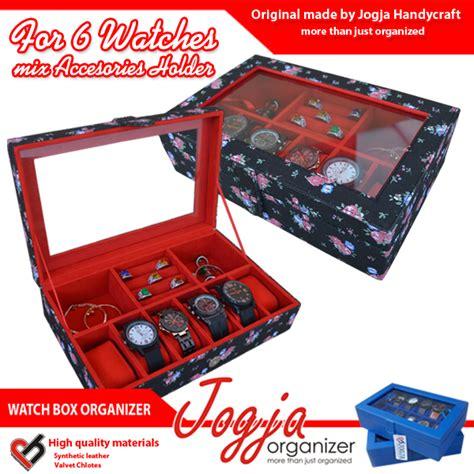 Gelang Tangan Mix black floral box mix accesories holder kotak jam