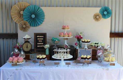 engagement party decorations at home vintage rustic pink and turquoise engagement party ideas