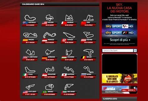 Calendario F1 2014 Calendario E Diretta Tv F1 2014