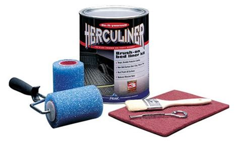 gray bed liner herculiner hcl1g8 gray brush on bed liner kit new ebay