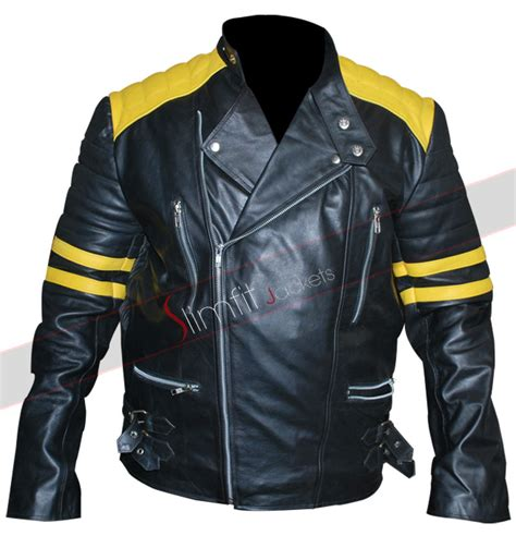yellow motorcycle jacket vintage s black yellow stripes motorcycle jacket