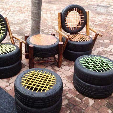 Meja Kursi Dari Ban Bekas ban bekas pun bisa jadi karya seni yang unik rawuh