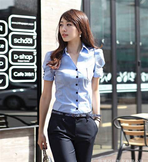 Kemeja Kerja Santai Wanita kemeja kerja wanita lengan pendek t1201 moro fashion