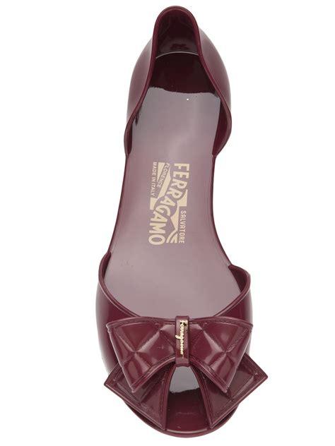New Flat Jelly Shoes Elegan Sepatu Jelly Flat Slip On Shoes Keren ferragamo jelly flat in purple lyst