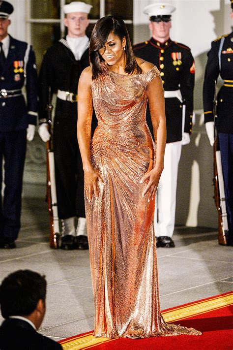 michelle obama dresses see michelle obama s showstopper of a state dinner gown