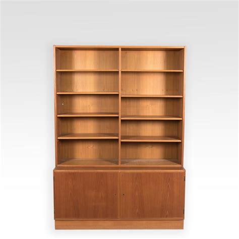 hundevad teak bookcase w cabinet base signed