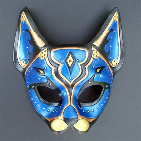 Masker Cat costumes colors vary leather blue cat blue