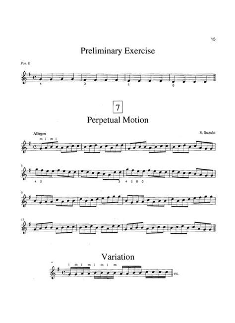 Perpetual Motion Suzuki Book 1 Suzuki Guitar School 1