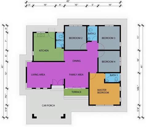 layout plan rumah pelan lantai banglo setingkat 4 bilik www pixshark com
