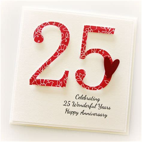 25th Anniversary Custom card personalised wedding silver