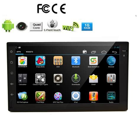 din android eincar eincar universal 2 din autoradio android 5 1 system gps navigation 7 inch
