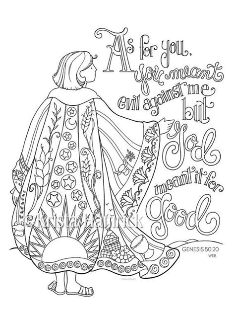 coloring sheets joseph coat many colors 1724 best images about sunday school worksheets activities