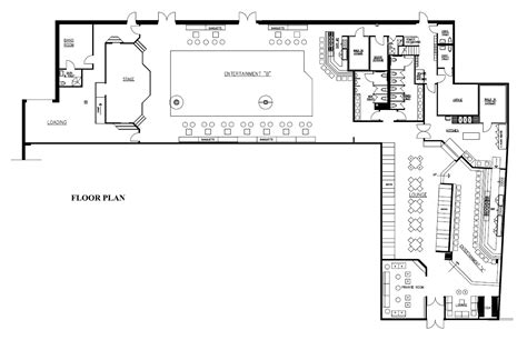 nightclub floor plans dexter s nightclub goldman design group
