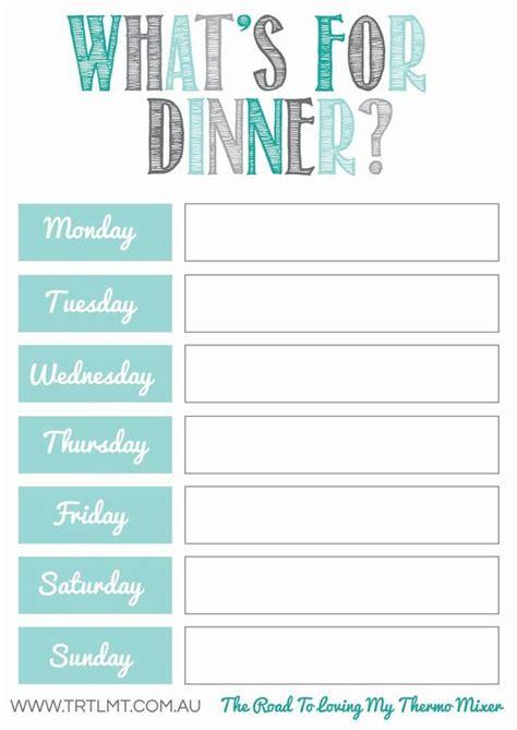 10 Free Weekly Meal Plans Tip Junkie Free Printable Dinner Menu Template