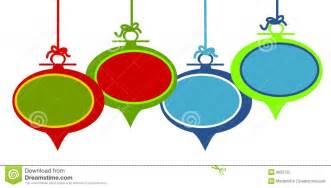 christmas ornament clip art invitation template
