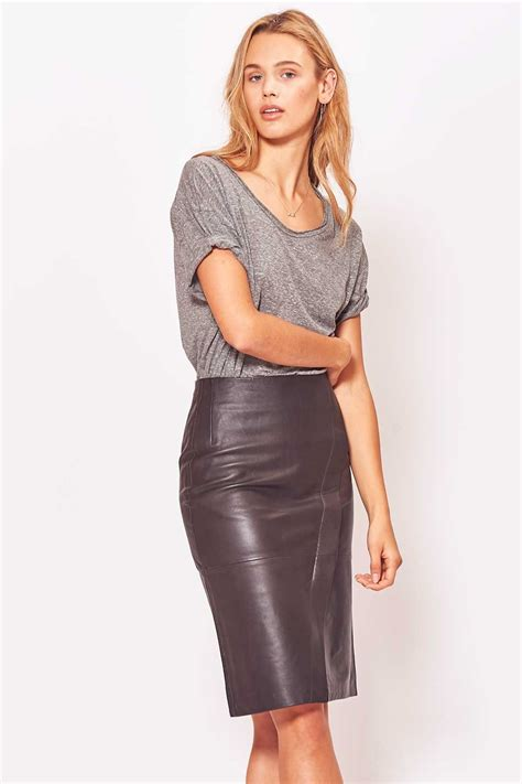 primary just leather skirt