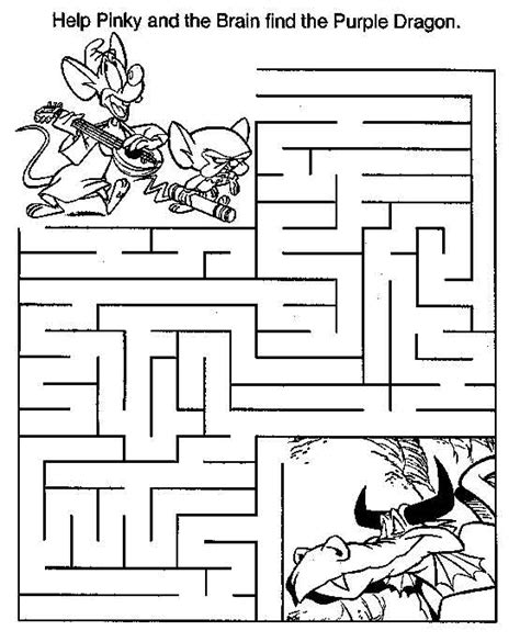 printable brain maze meedium mazes colouring pages