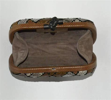 Limited Edition Bottega Veneta Origami Knot Clutch Purse by Bottega Veneta Limited Edition Patchwork Multi Skin