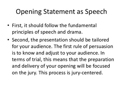 exles themes for opening statements module 23 opening statement as speech the