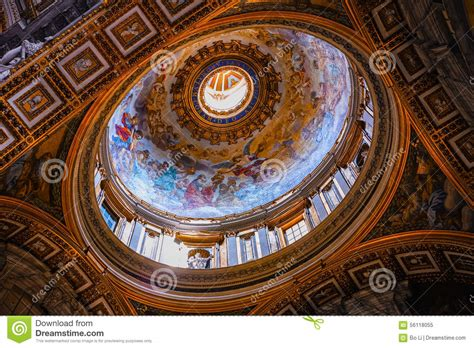 colorful on vatican ceiling dome vatican inside beautiful ceiling dome rome italy stock