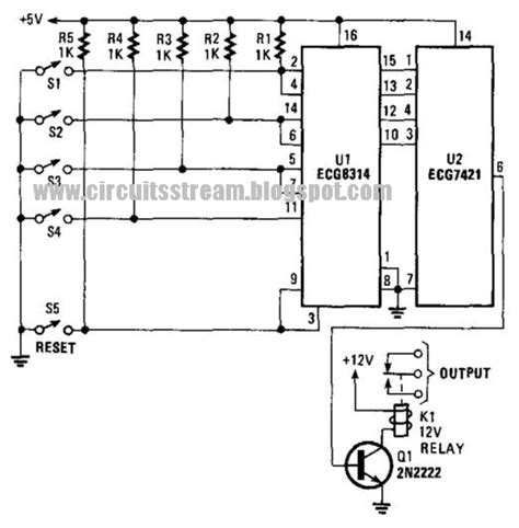 key less lock circuit diagram electronic circuit