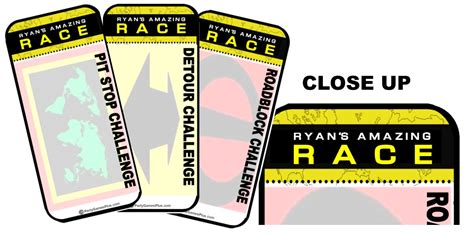amazing race supplies and invitations