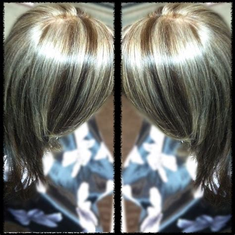 platinum highlights on brown hair platinum blonde highlights and chocolate brown hair color