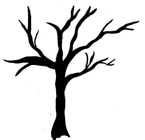 tree drawing simple simple bare tree silhouette clipart best