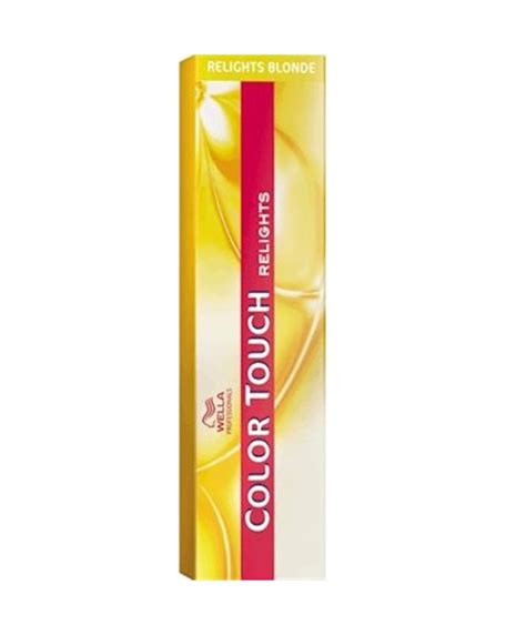 relights touch haircolor color touch wella afro