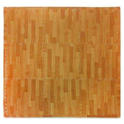wood grain rubber st exercise flooring the home depot