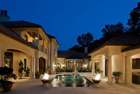 Ballard By Design courtyard villa mediterranean pool other metro by