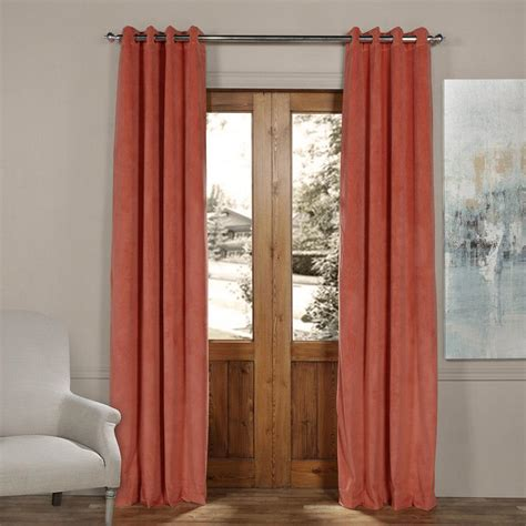 orange velvet curtains exclusive fabrics furnishings blackout signature desert