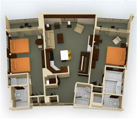bay lake tower two bedroom villa floor plan breakdown of disney vacation club rooms on disney pix