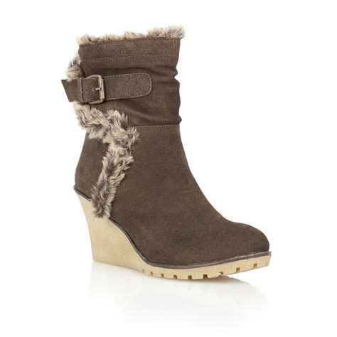 wedge brown boots buy ravel alabama wedge ankle boots in brown