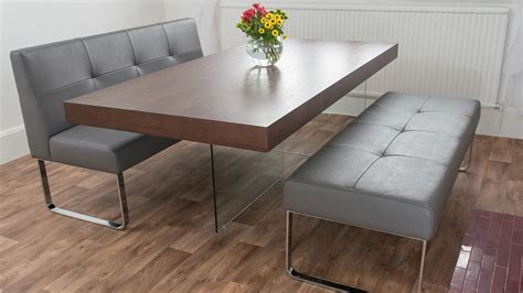 gray dining table with bench dinette sets with bench support for your dining room ideas