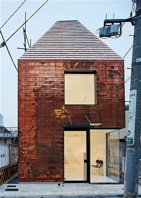 copper siding for houses copper clad houses the barnacle building by archivision in tokyo