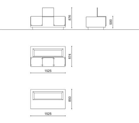 dimensioni panchina panchina modulare con fioriera integrata mamu 192 by metalco