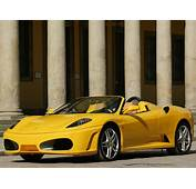 Yellow Cars Ferrari F430 Spider Background